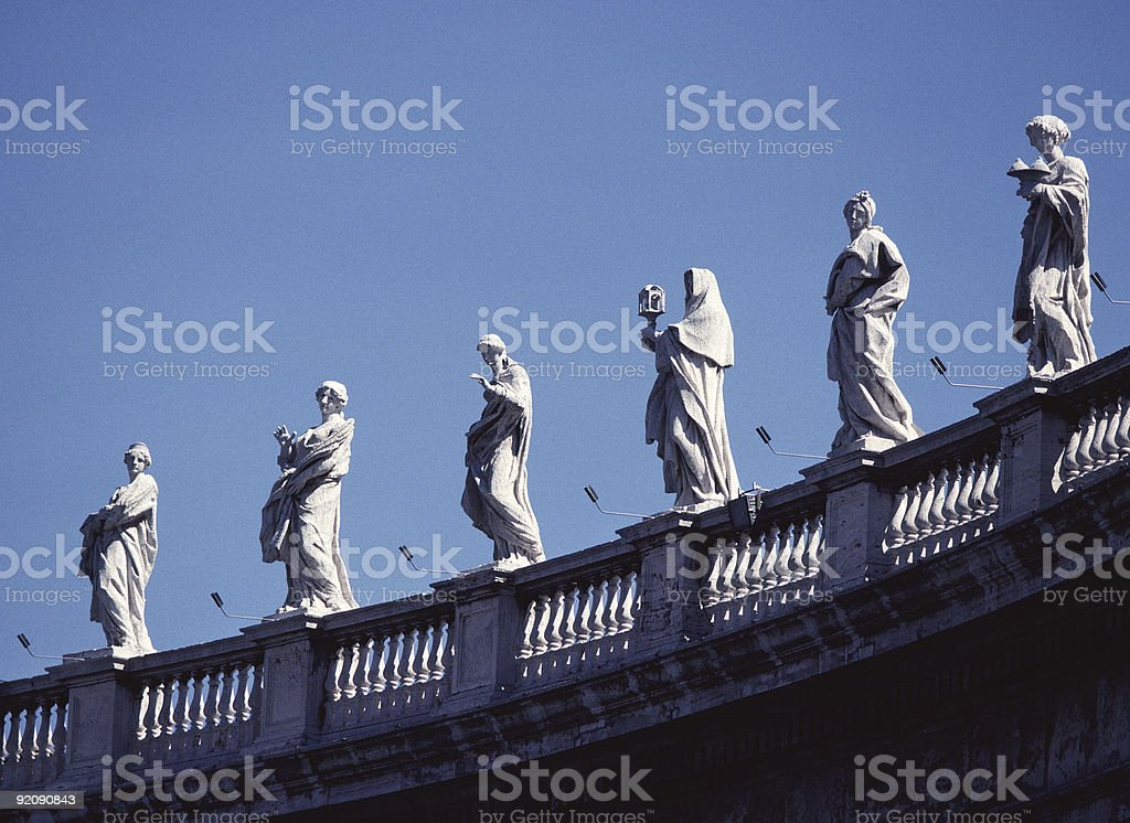 Six Saints of St. Peters royalty-free stock photo
