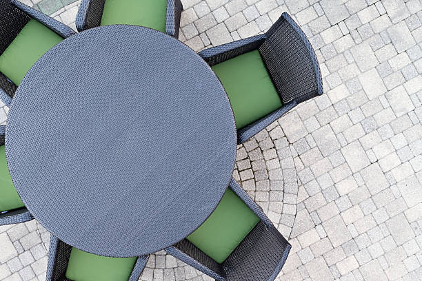 Six seater outdoor patio set - foto de stock