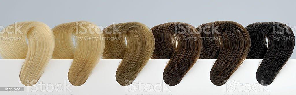 six shades of hair royalty-free stock photo