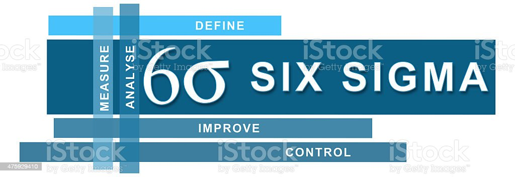 Six Sigma Blue Stripes Horizontal stock photo