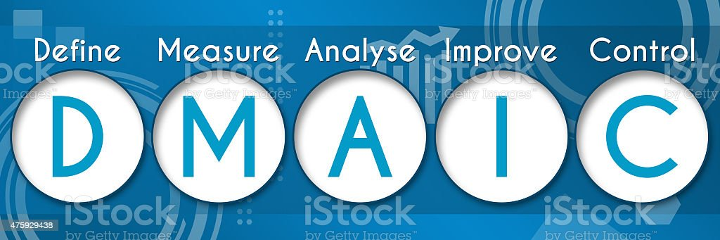 Six Sigma - DMAIC Business Theme Circles stock photo