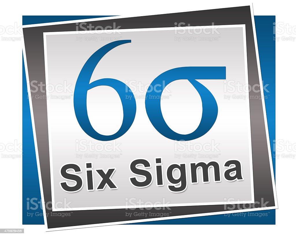 Six Sigma Symbol And Text Blue Grey Block stock photo