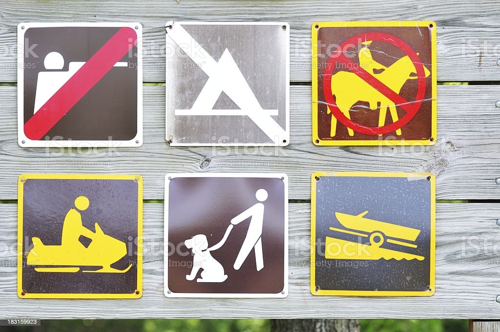 Six Signs stock photo