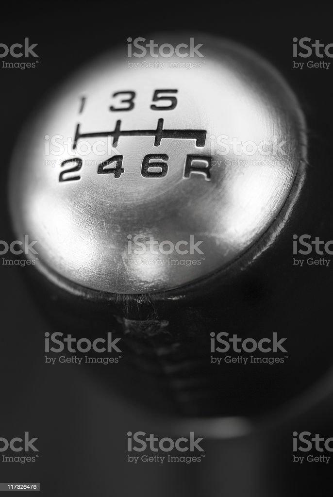 Six Speed Gearshift royalty-free stock photo