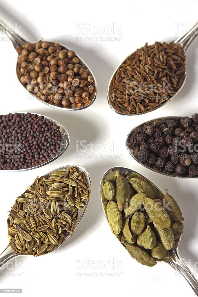Six Spice Seeds royalty-free stock photo