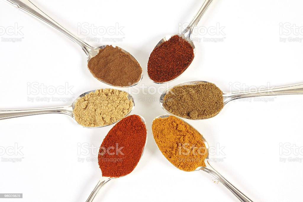 Six Spices royalty-free stock photo