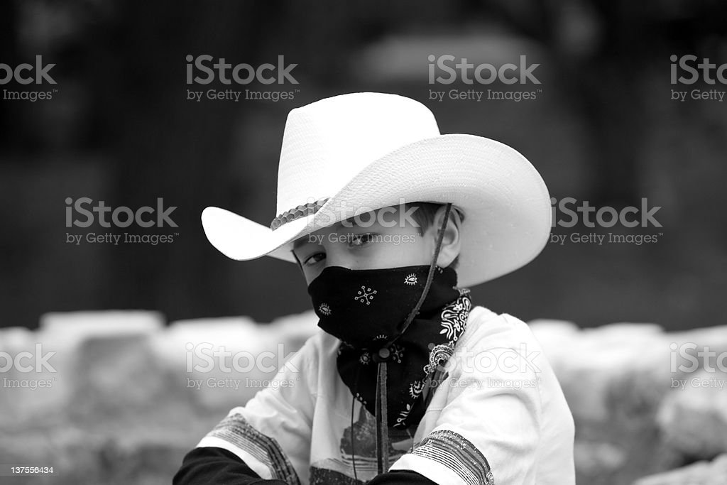 six year old cowboy royalty-free stock photo