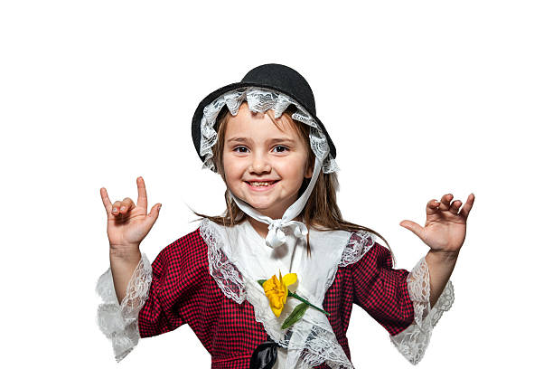 e7820f72c Six Year Old Girl In Traditional Welsh Costume Stock Photo & More Pictures  of 6-7 Years - iStock