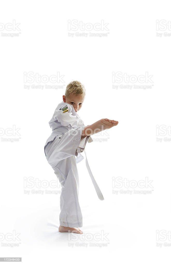 six year old practising karate royalty-free stock photo