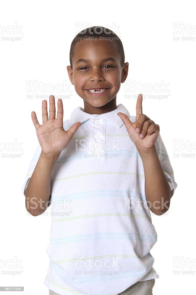 Six Years Old royalty-free stock photo