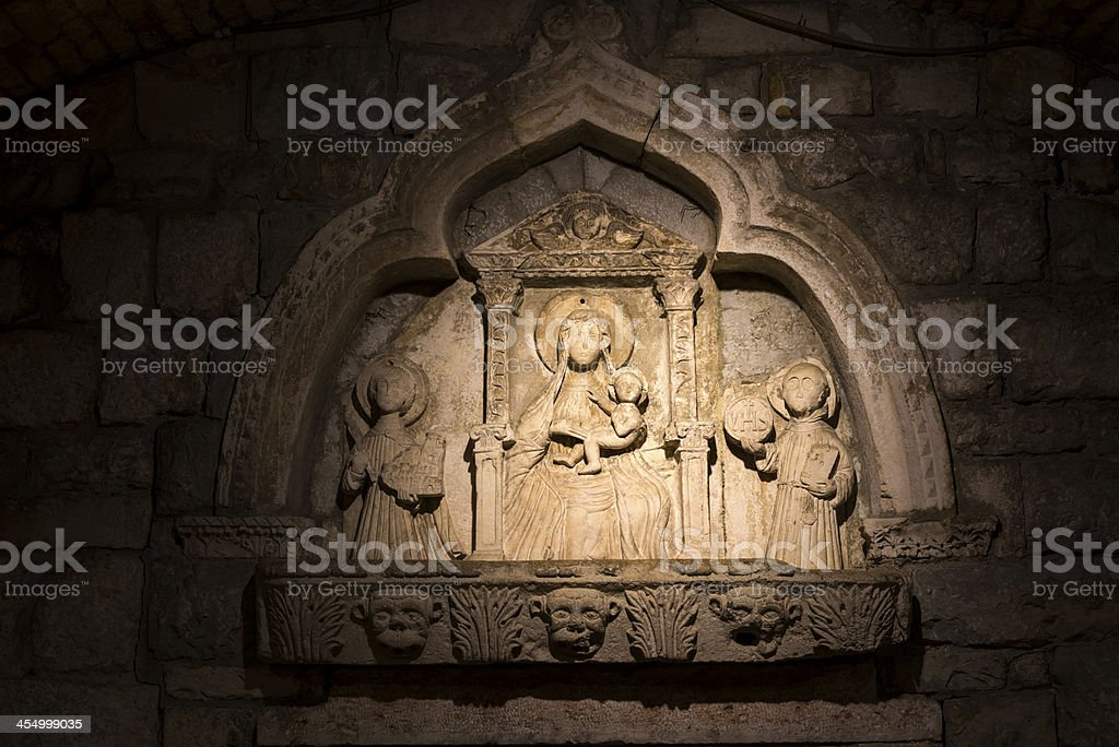 Sixteenth-century carving inside Kotor's Sea Gate royalty-free stock photo