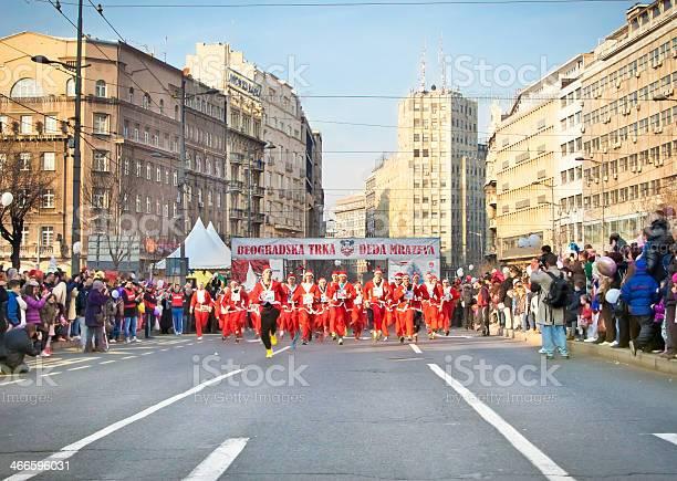 Sixth annual Santa's Race in Belgrade, Serbia