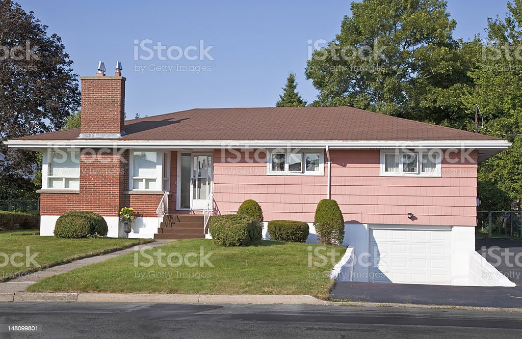 Sixties Era Bungalow stock photo