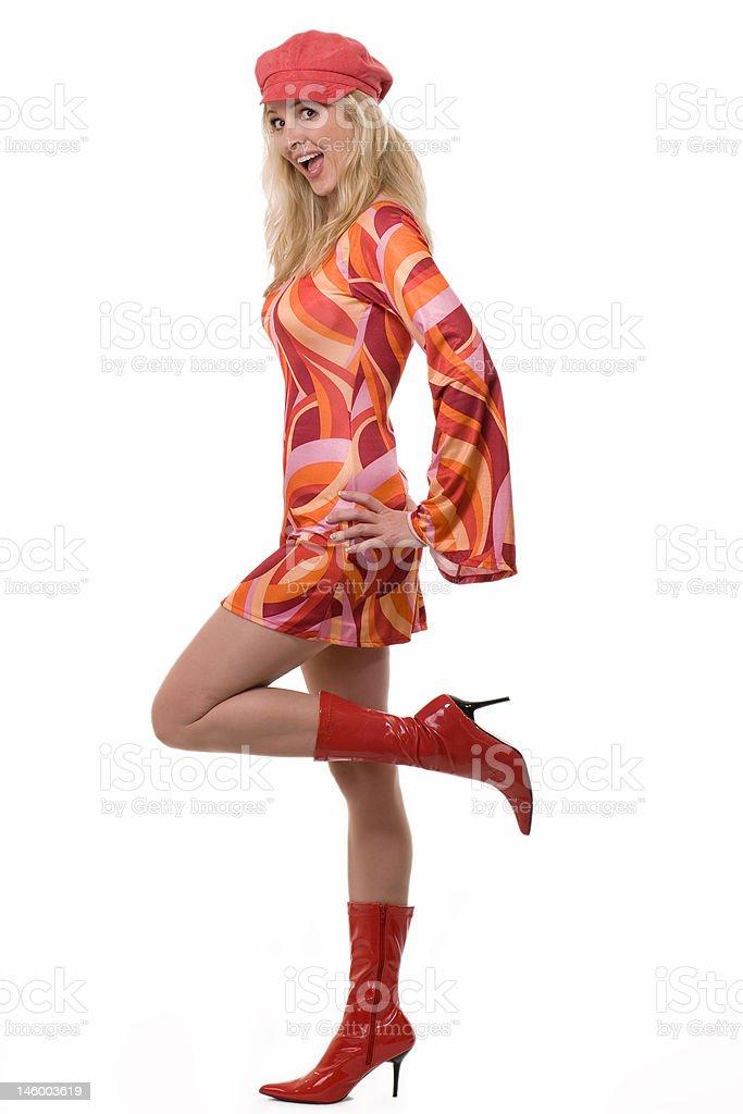 Sixties fashion stock photo