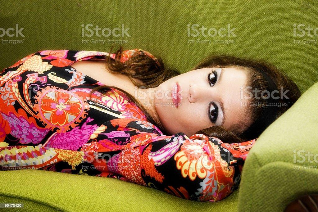 Sixties Girl royalty-free stock photo
