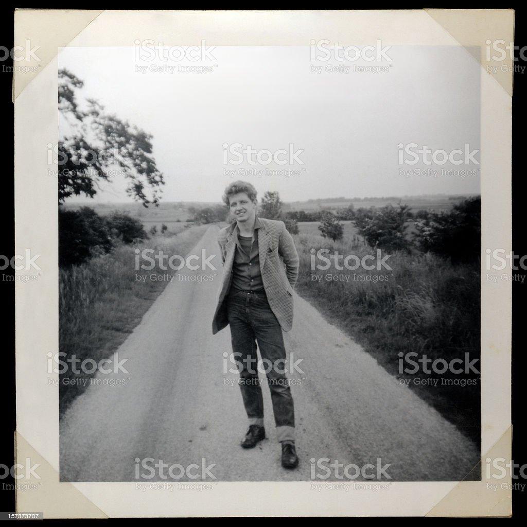 Sixties man royalty-free stock photo