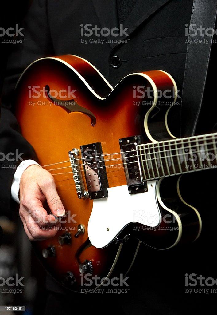 Sixties musician royalty-free stock photo