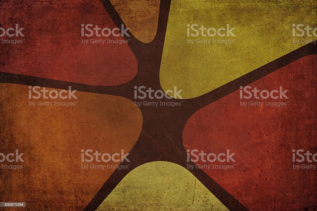 Sixties or Seventies Decoration Background stock photo