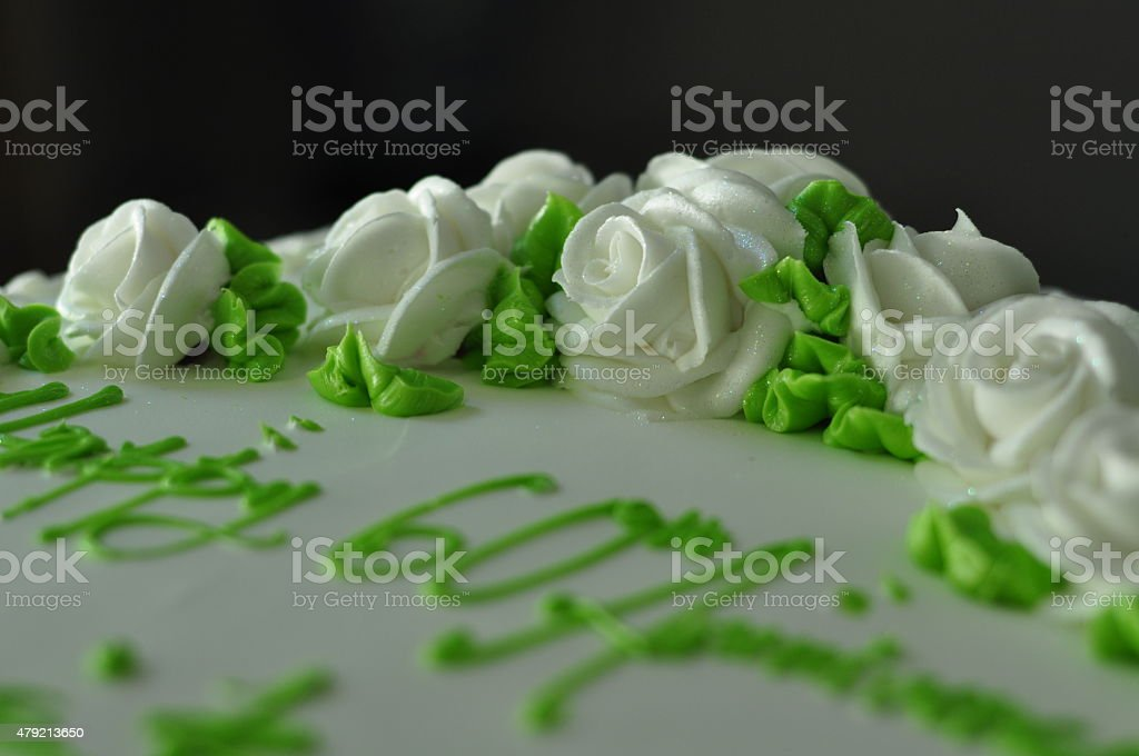 Sixtieth Anniversary Cake stock photo
