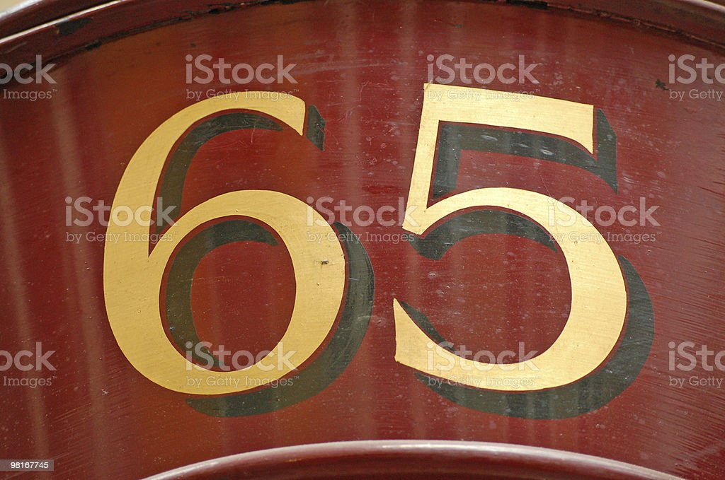 Sixty Five royalty-free stock photo