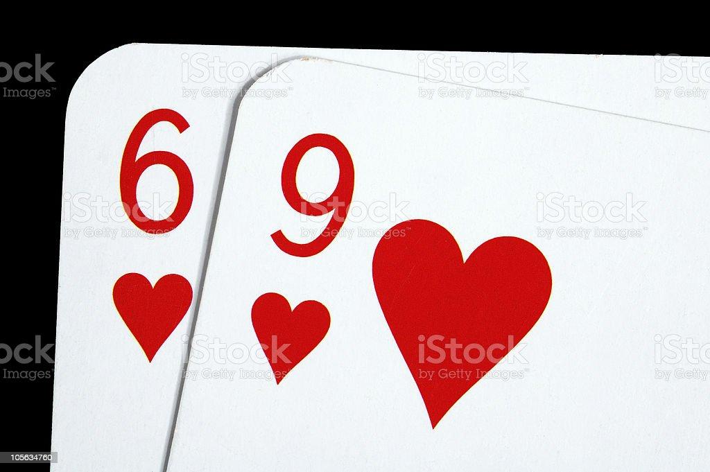 sixty nine  hearts stock photo