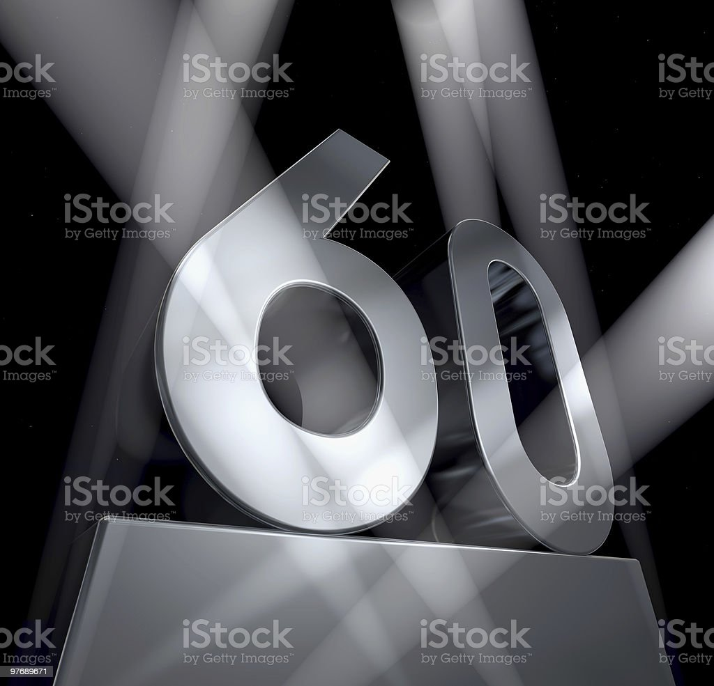 sixty year celebration monument 60 stock photo