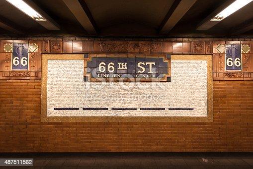 istock Sixty-sixth Street Subway Mosaic 487511562