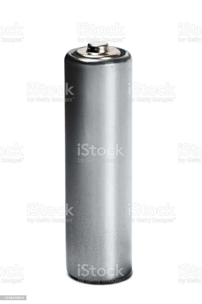 AA size batteries on white isolated background. Concept of renewable energy and sources of electrical power. Pattern for designer of environmental power sources, electrical power sources. stock photo