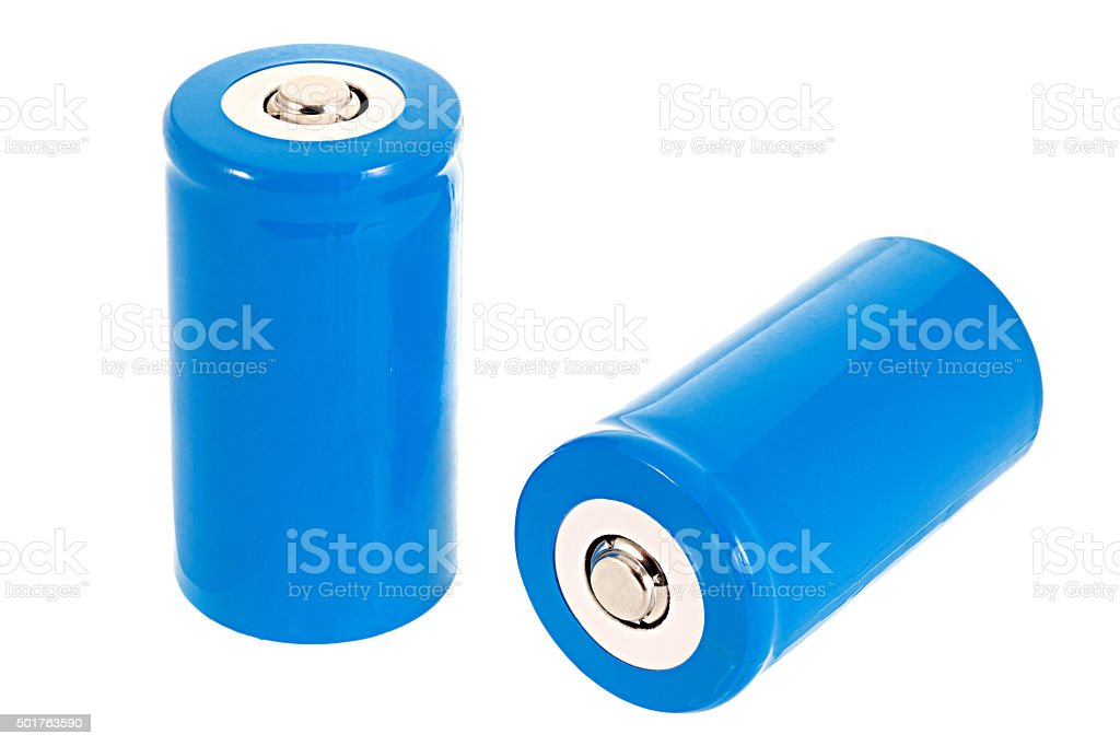 D Size batteries stock photo