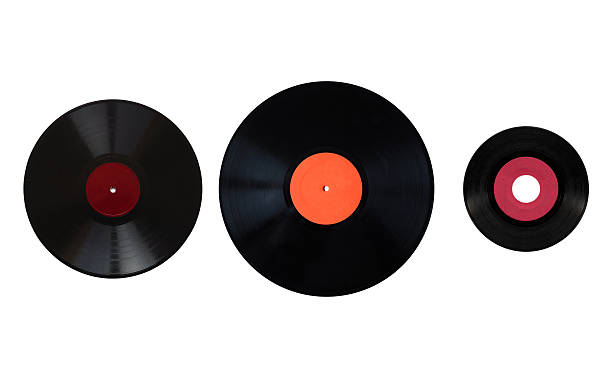 Size comparison of recording media Size comparison of many analogue recording media for music. Left to right: shellac record 78 rpm, vinyl record 33 rpm and 45 rpm number 7 stock pictures, royalty-free photos & images