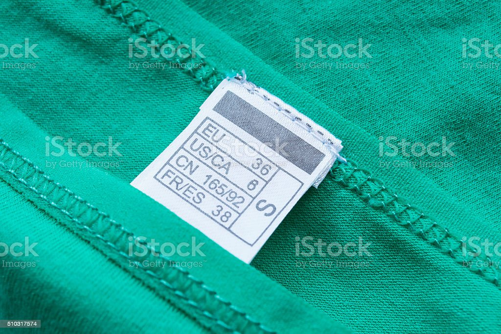 Size label stock photo