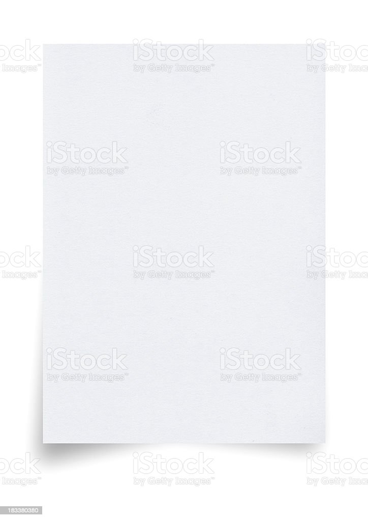 A4 Size Paper stock photo
