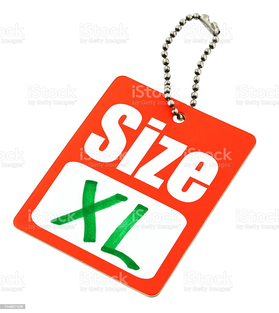 XL Size Tag royalty-free stock photo