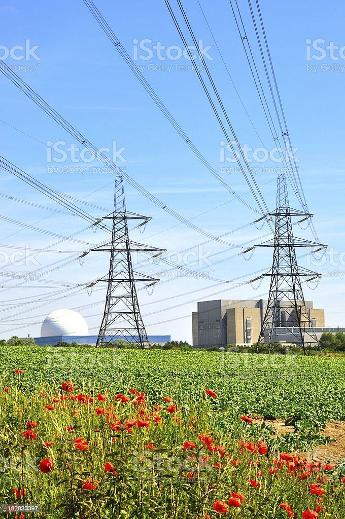 Sizewell pylons royalty-free stock photo