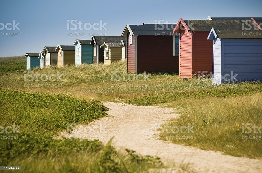 Skåne beach huts royalty-free stock photo