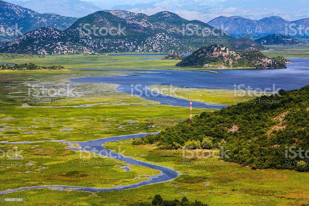 Skadar lake landscape stock photo