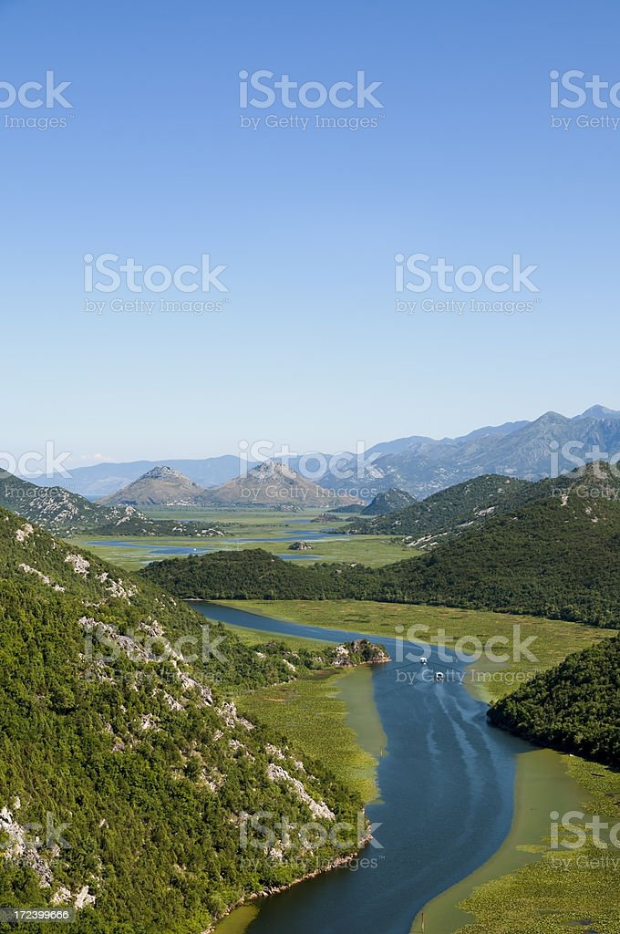 Skadarsko Jezero, (Skadar lake), Montenegro royalty-free stock photo