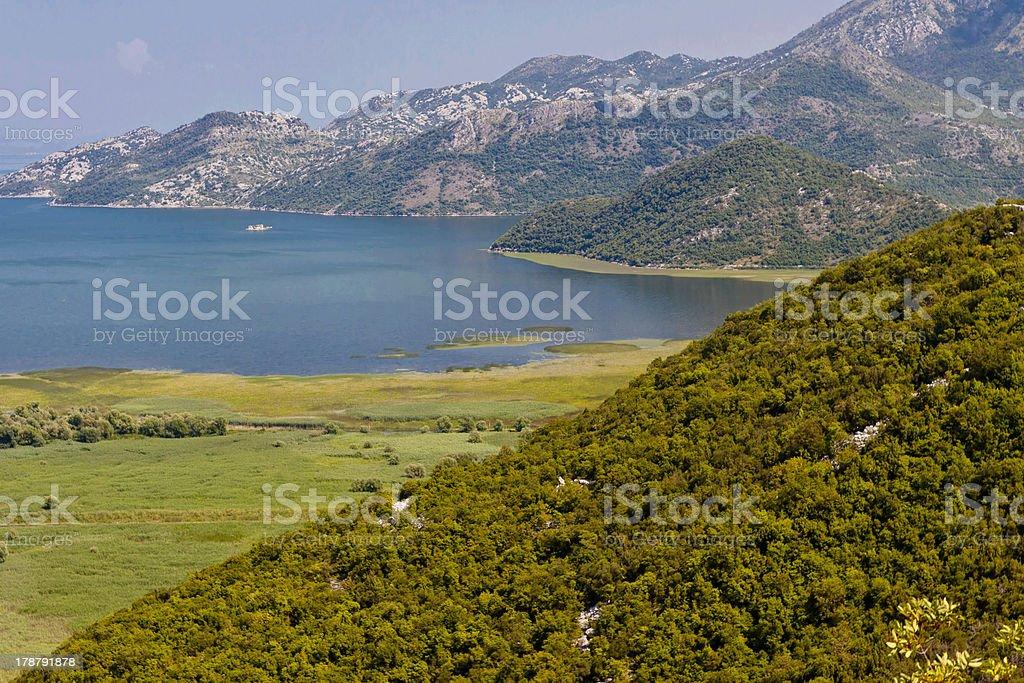 Skadarsko lake. Montenegro. stock photo