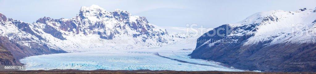 Skaftafell Glacier Iceland Panorama royalty-free stock photo