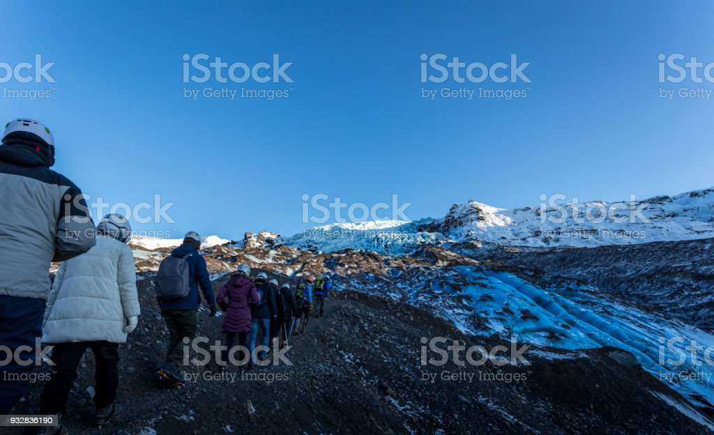 Skaftafell Glacier Landscape winter stock photo
