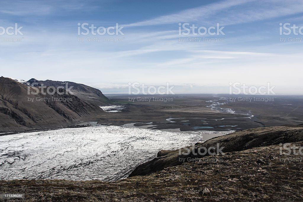 Skaftafell Glacier royalty-free stock photo