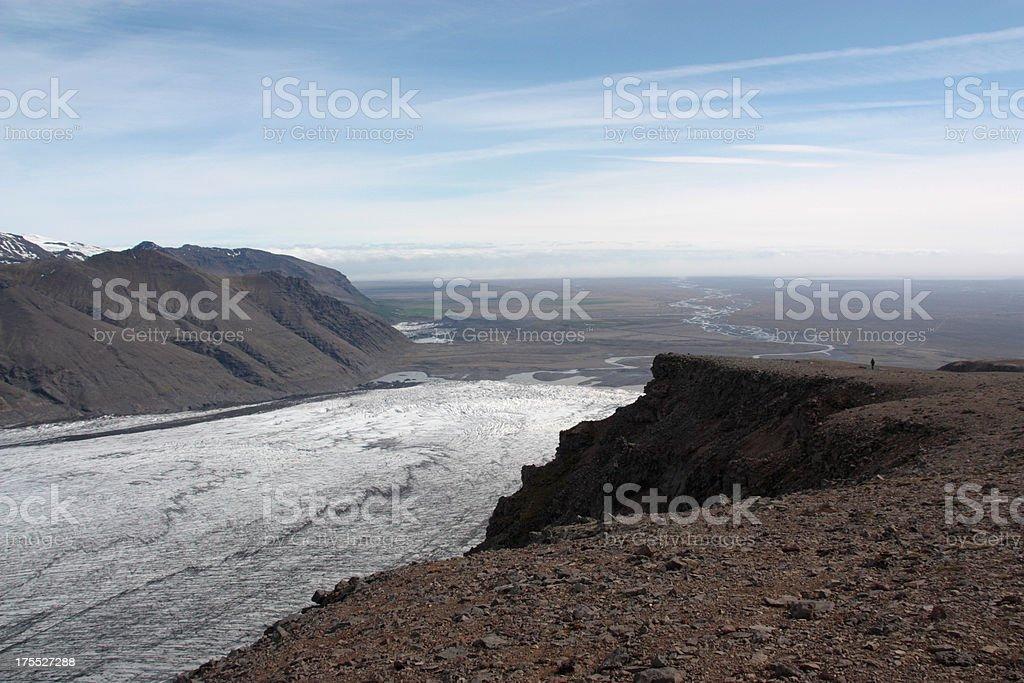 Skaftafell Glacier royalty-free stock photo