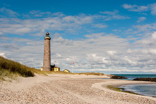 Skagen beach stock photo