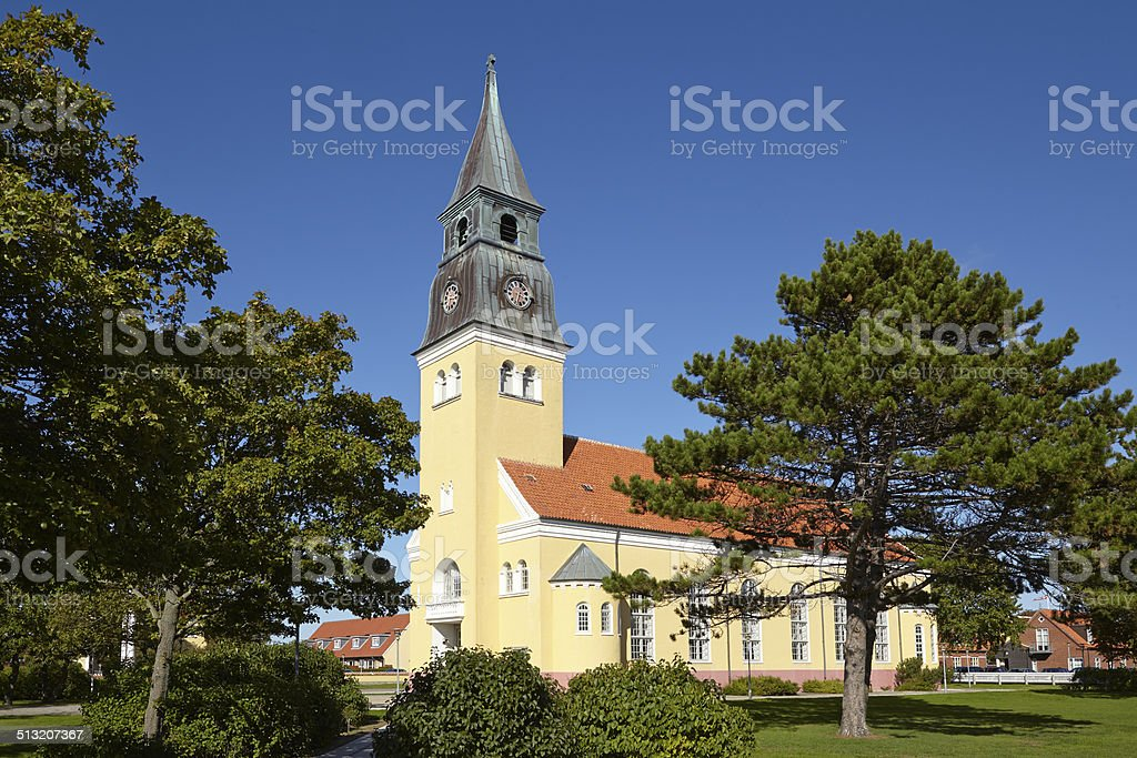 Skagen (Denmark) - Church stock photo