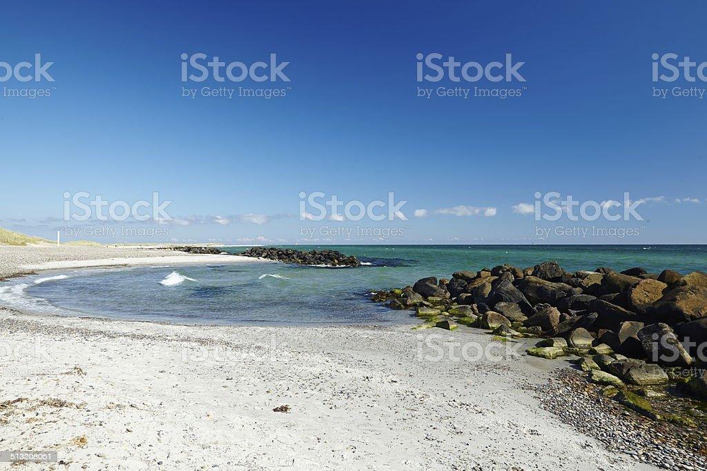 Skagen (Denmark) - Coastal line stock photo