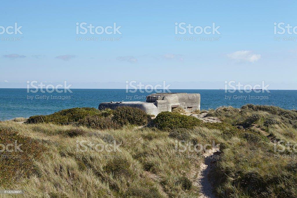Skagen (Denmark) - Second World War Bunkers at the coast stock photo