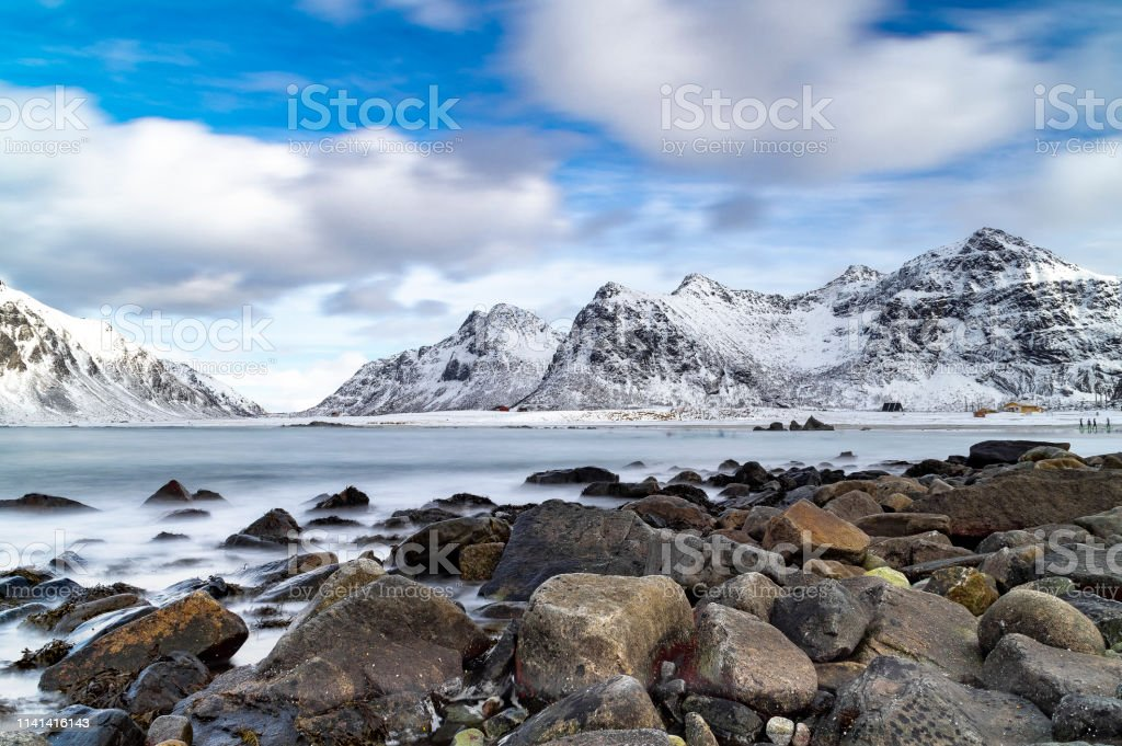 Skagsanden Beach in Winter stock photo