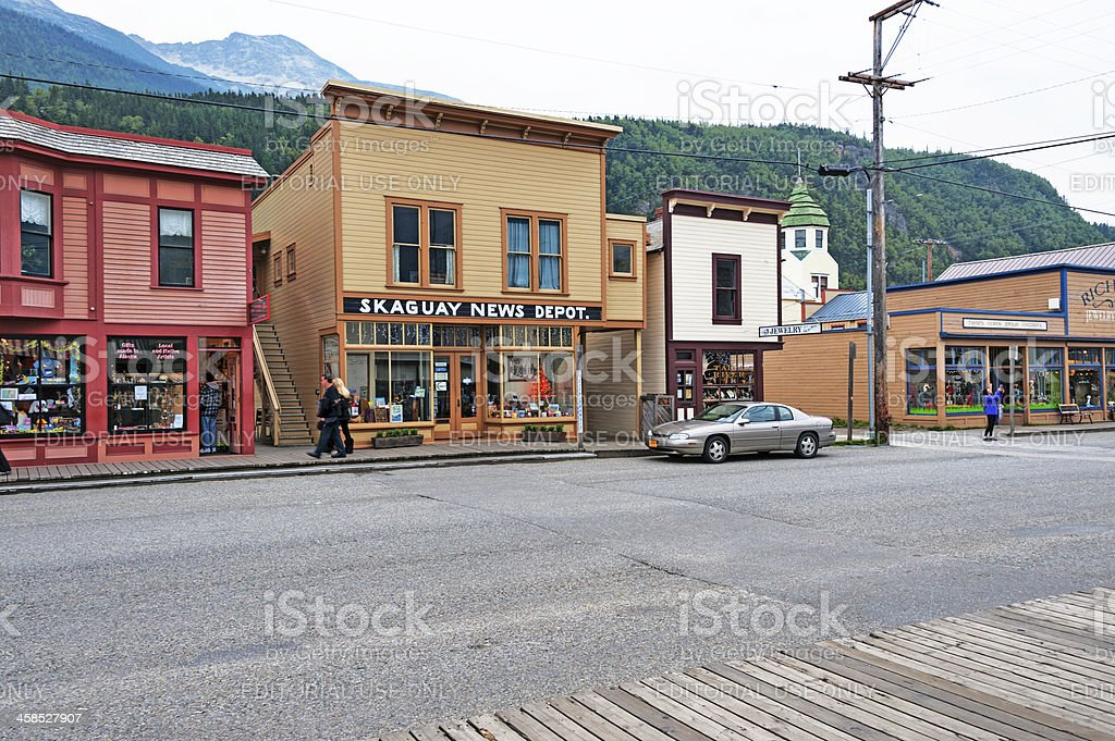 Skaguay Street Views royalty-free stock photo