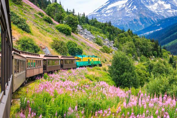 Skagway, Alaska. Der scenic White Pass & Yukon Route Railroad. – Foto