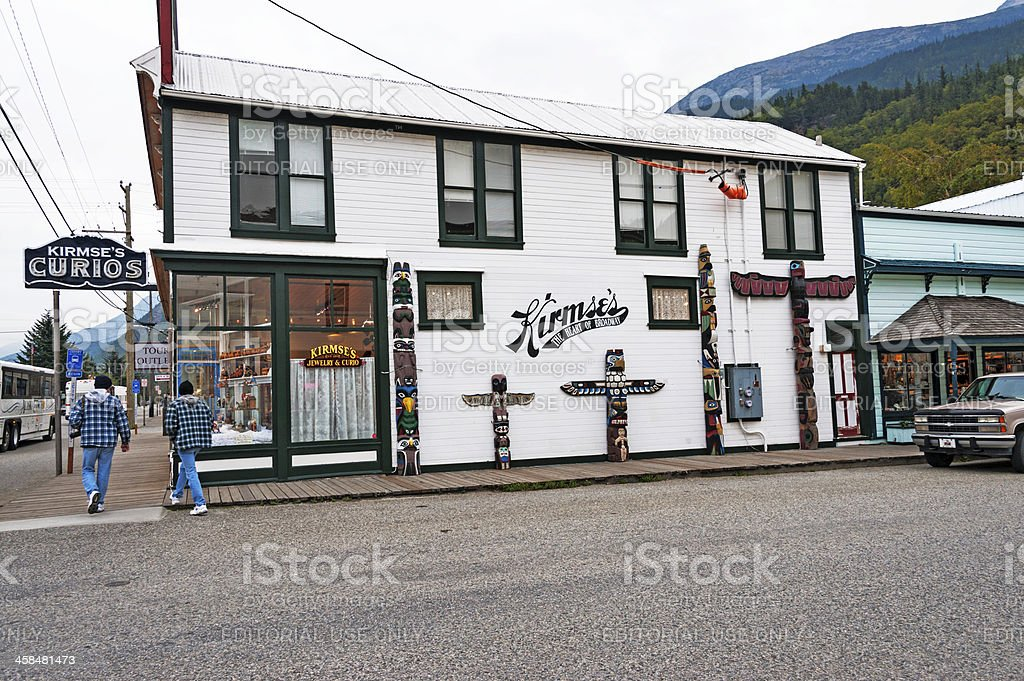 Skagway Curio Shop stock photo